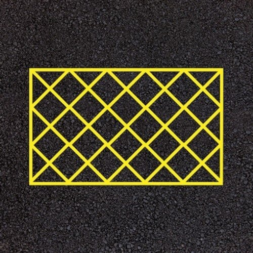 Playground Markings - Road Markings - No Parking Hatching Area Example