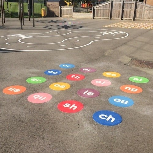 Playground Markings - Numeracy and Literacy - Phenomes On Site