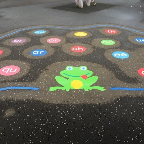 Playground Markings - Numeracy and Literacy - Phonic Frog On Site