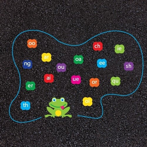 Playground Markings - Numeracy and Literacy - Phonic Frog Example