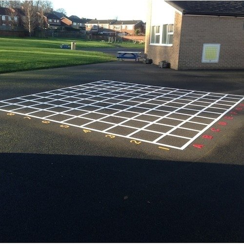 Playground Markings - Board Games and Grids - Coordinate Grid Lines On Site