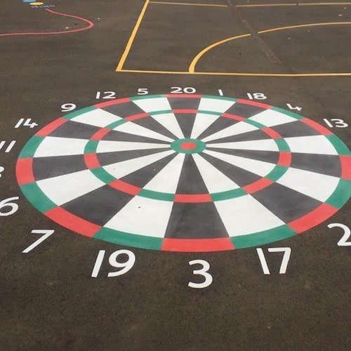 Playground Markings - Targets and Mazes - Dartboard On Site