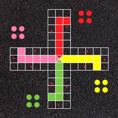 Playground Markings - Board Games and Grids - Ludo Example