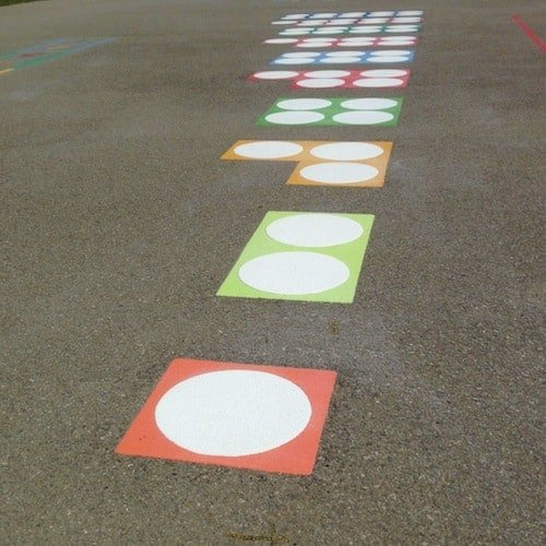 Playground Markings - Numeracy and Literacy - Numicoms On Site