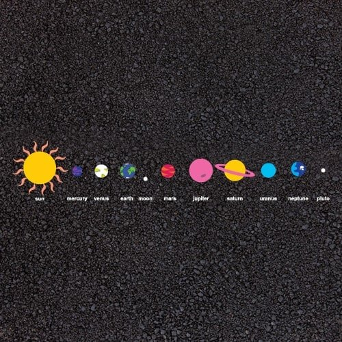 Playground Markings - Maps and Compasses - The Solar System Example