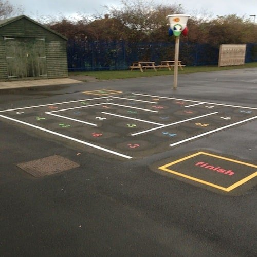 Playground Markings - Numeracy and Literacy - Maths Maze On Site