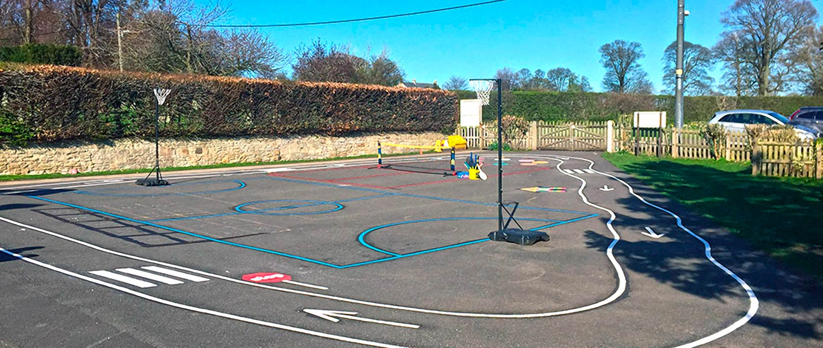 Playground Walton First School Morpeth Feature