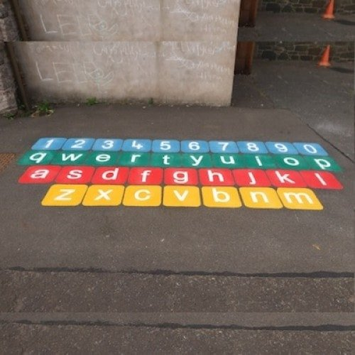 Playground Markings - Numeracy and Literacy - Qwerty Keyboard On Site