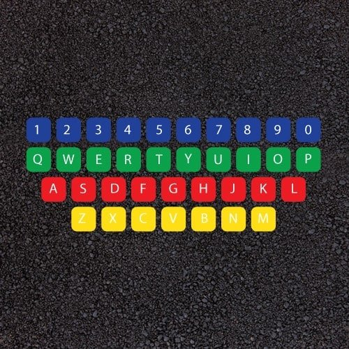 Playground Markings - Numeracy and Literacy - Qwerty Keyboard Example