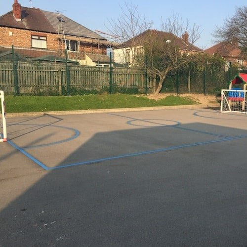 Playground Markings - Sports Pitches - Football Pitch On Site Liverpool