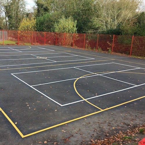Playground Markings - Sports Pitches - Short Tennis On Site