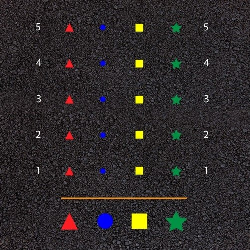 Playground Markings - Sports Pitches - Shuttle Run Race Example