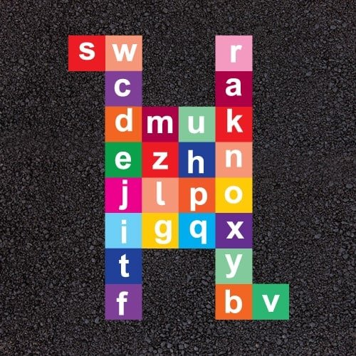 Playground Markings - Numeracy and Literacy - Spell Jump Example