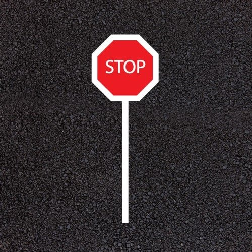 Playground Markings - Circuits Tracks and Trails - Stop Sign Example