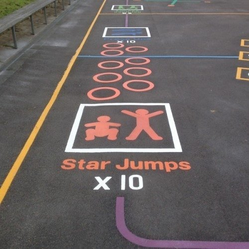 Playground Markings - Circuits Tracks and Trails - Fitness Trail Exercises On Site