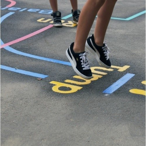 Playground Markings - Circuits Tracks and Trails - Activity Trail In Action
