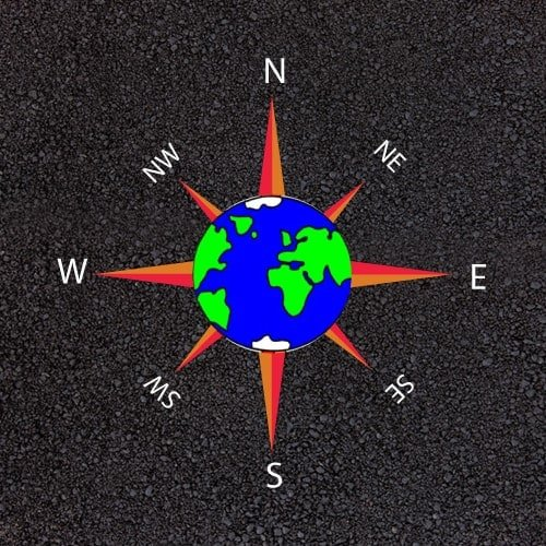 Playground Markings - Maps and Compasses - World Compass Example