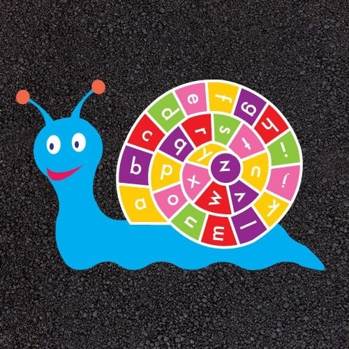 Playground Markings - Numeracy and Literacy - A-Z Snail Example