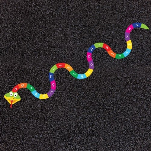 Playground Markings - Numeracy and Literacy - A-Z Snake Example