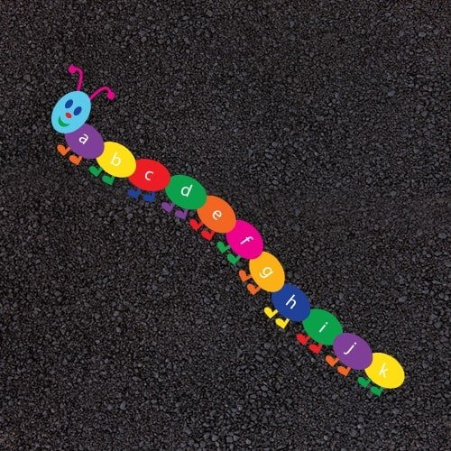 Playground Markings - Numeracy and Literacy - A-Z Caterpillar Example