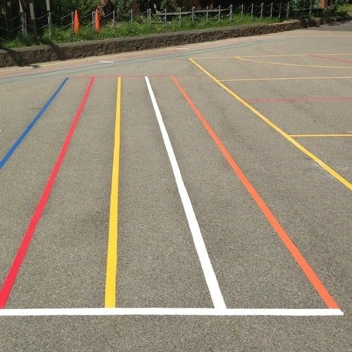 Playground Markings - Olympic Legacy Games - Sprint Track On Site