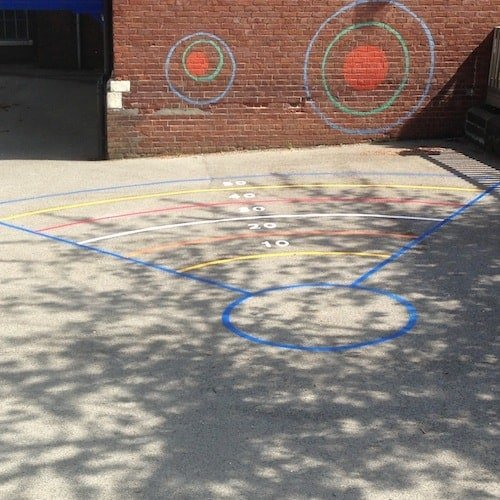 Playground Markings - Olympic Legacy Games - Olympic Throw On Site