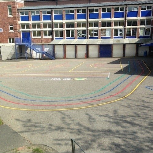 Playground Markings - Olympic Legacy Games - Running Track On Site