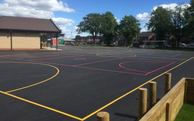 Thermoplastic Playground Markings at a Primary School in Paisley, Scotland