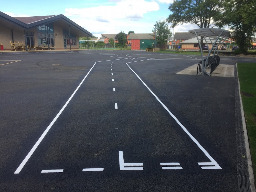 Cycle Proficiency Track at a Primary School in Paisley, Scotland