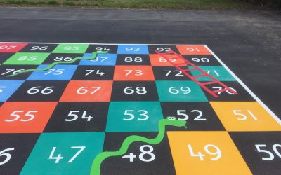 Thermoplastic Playground Markings at a Primary School in Blakelaw, Newcastle Upon Tyne