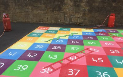1-100 Snakes and Ladders at a Primary School in Blaydon, Newcastle Upon Tyne