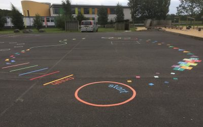 Thermoplastic Playground markings at Nunthorpe Primary School in Middlesborough