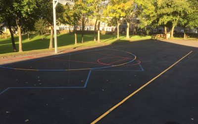 Premium Funding Multi Court at Butterknowle Primary School County Durham