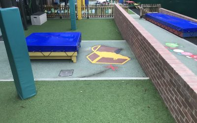 Playground markings brighten up a London primary