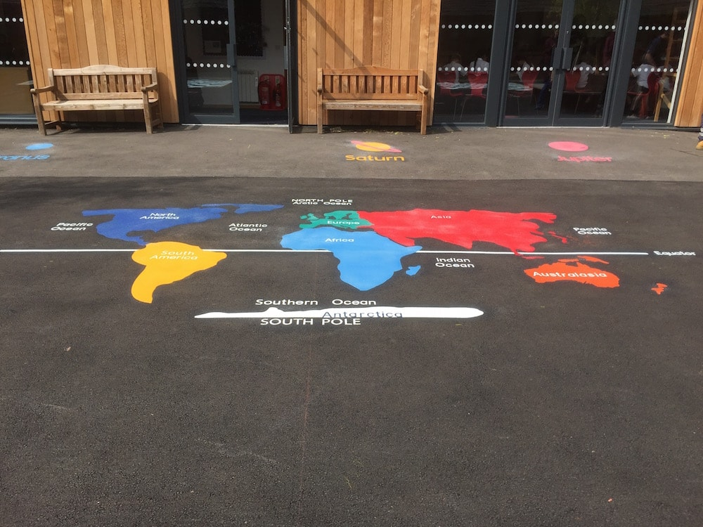 Thermoplasic Playground Markings at a Primary School in Coventry