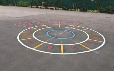 Thermoplastic Playground Markings at East Lane Primary School in Wembley, London.