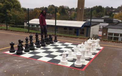 Giant Chess Set and Playground Chess Board