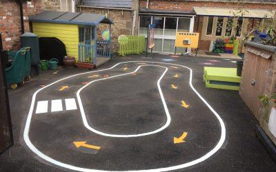 Thermoplastic Playground Markings at Markington Primary School in Harrogate