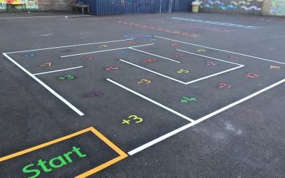 Thermoplastic Playground Markings at Thomas Walling Primary School Newcastle Upon Tyne
