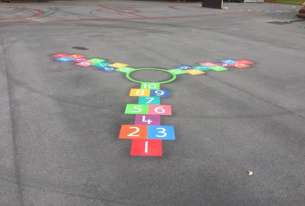 Walk A Mile Track Install At A Primary School in Stockport