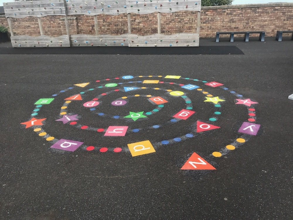 Thermoplastic Playground Markings at a Primary School in Hebburn