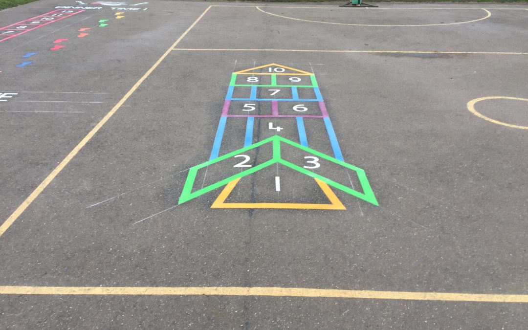 Thermoplastic Playground Markings at Alburgh VC Denton First School in Norfolk