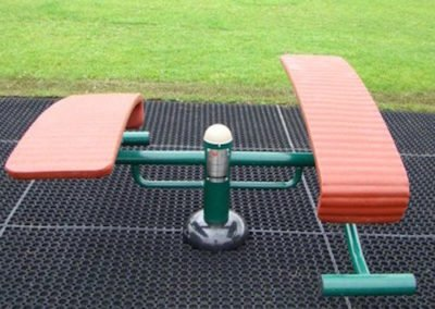 Double-sit-up-bench