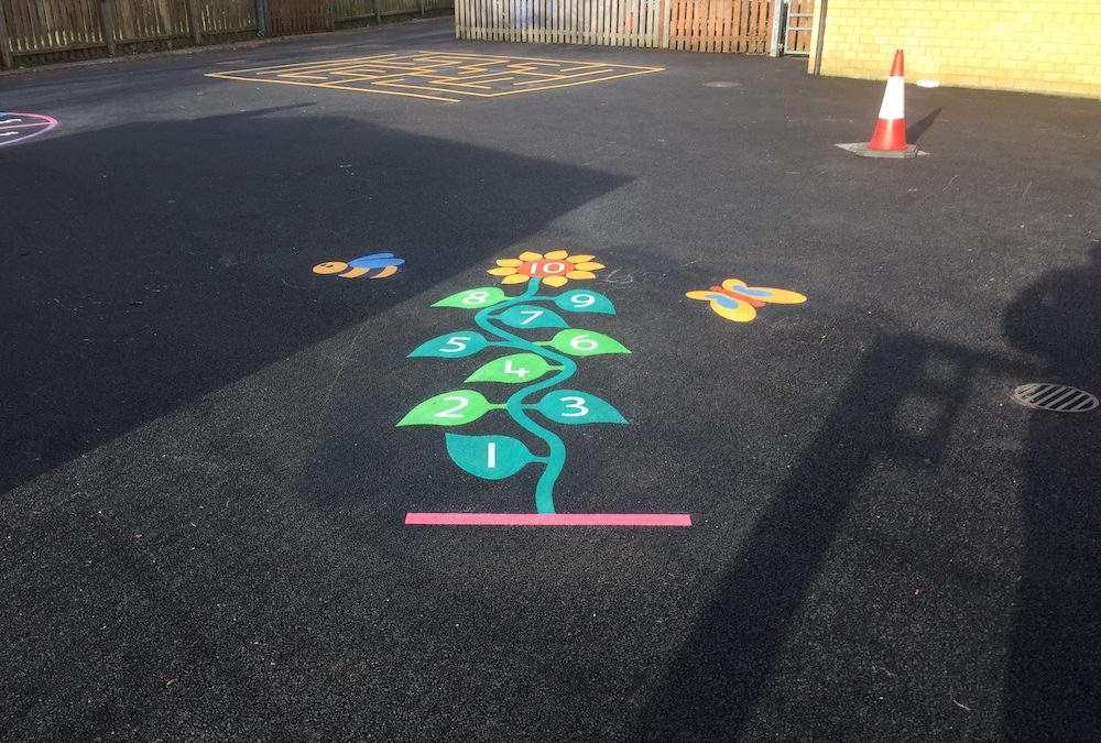 Brightening Up A School Playground in Bedfordshire