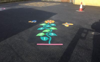 Brightening Up A School Playground in Bedfordshire