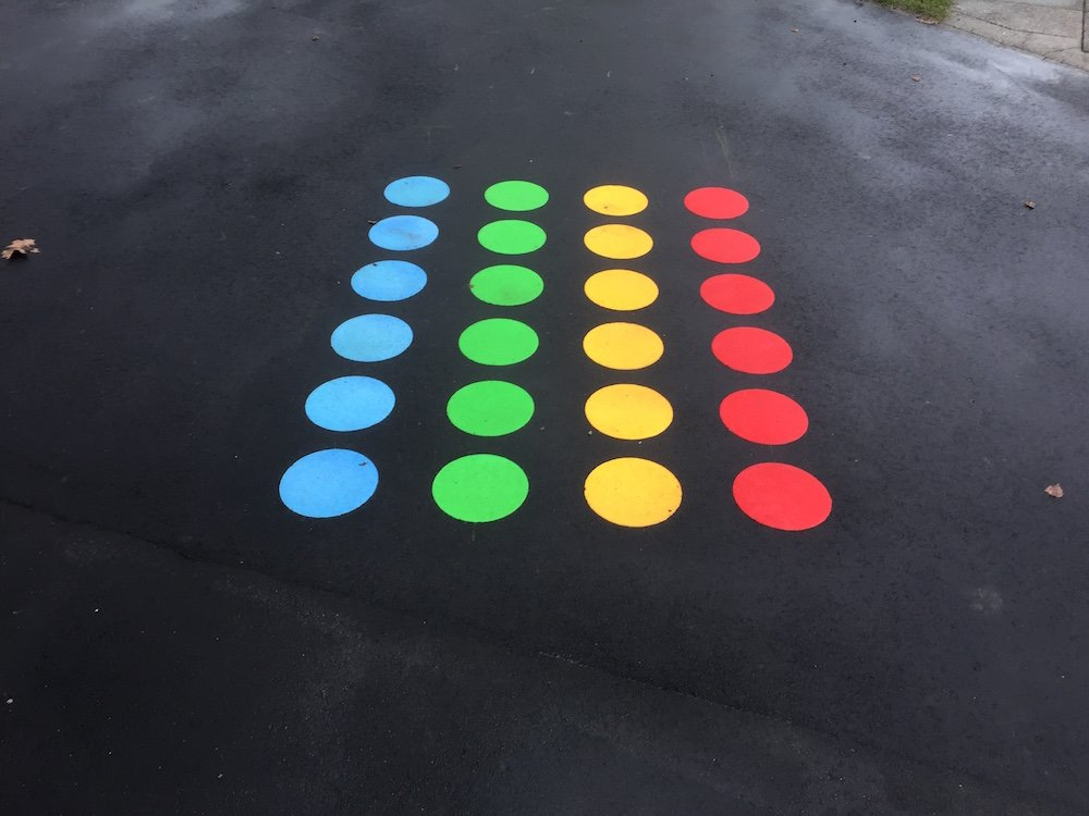 Thermoplastic Playground Markings at Highfeild Infant School in Bromley, London.