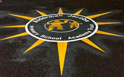 School Logo Impressed at Alderman Jacobs School