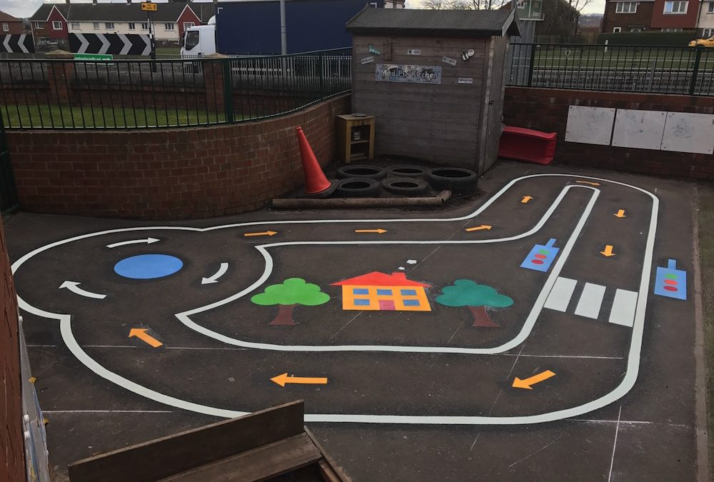 Colourful New Cycle Track For South View Nursery