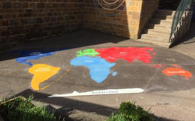 New Playground Markings for a Primary in Oxfordshire