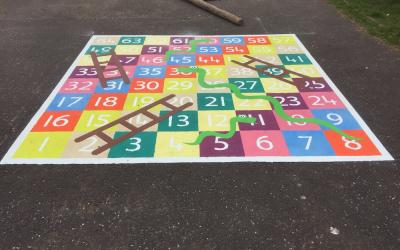 Bright new playground markings transform school in Bellshill